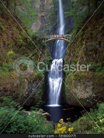 Multnomah Falls stock photo, Multnomah Falls located east of Portland, Oregon. by Mike Norton
