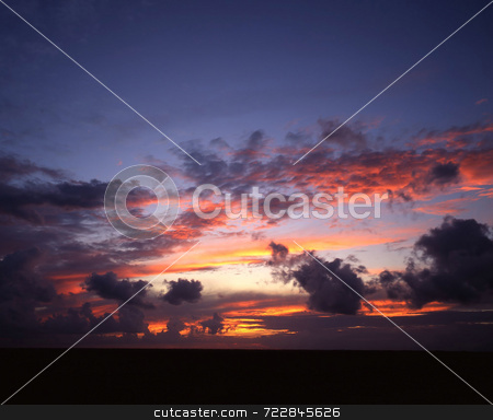 Sunset stock photo, Sunset over the Gulf of Mexico. by Mike Norton