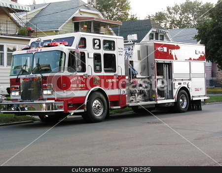 Engine Company At Work stock photo,  by Mark Bernas