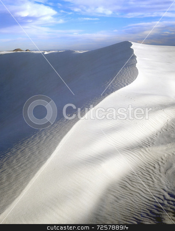 White Sand Dune stock photo, A white sand dune in White Sands National Monument, New Mexico. by Mike Norton