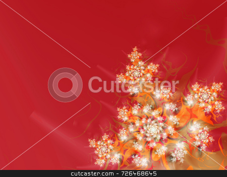 Colorful red background stock photo, A rich colored background with an almost floral sparky fractal. It may go well with a great number of themes including Christmas, spring, Valentines, birthdays, weddings, etc. by Barbara Din
