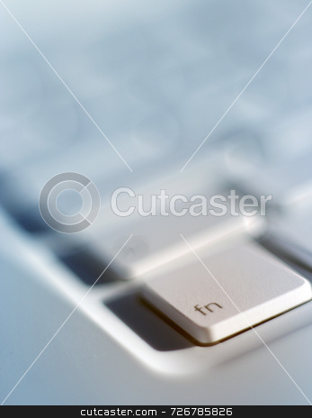 Laptop function key stock photo, Closely focussed on function key on laptop keyboard by Ronald Hudson