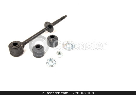 Swaybar Link stock photo, Automotive  rear swaybar link with rubber bushings by Jack Schiffer