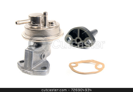Fuel Pump stock photo, Fuel pump and accessories for air cooled volkswagen engine by Jack Schiffer