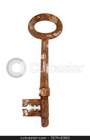 Rusty Key stock photo, Rusty Key by Jon Stokes
