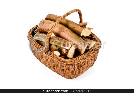 Basket of firewood stock photo, Basket of firewood by Jon Stokes