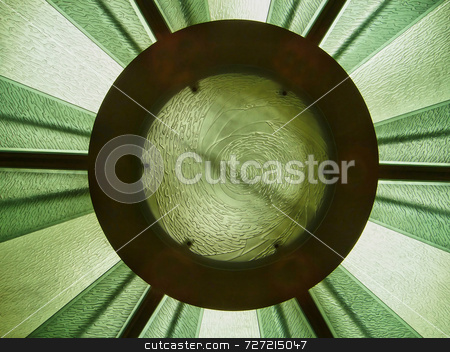 Modern Glass Ceiling stock photo, A modern glass skylight that is in a ceiling by Kevin Tietz