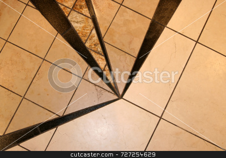 Modern Lobby Tile stock photo, This is a group of modern tiles in a lobby by Kevin Tietz