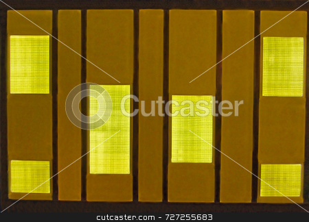 Modern Wall stock photo, A modern or contemporary light boxes on a wall by Kevin Tietz