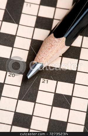 Crossword Puzzle & Pencil stock photo, Crossword Puzzle & Pencil by Jon Stokes