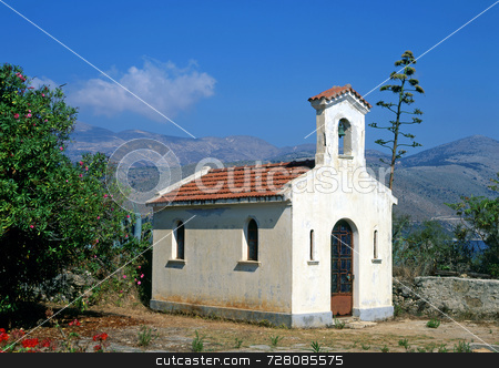 Old church stock photo, A small church on the greek island of Kefalonia by Paul Phillips