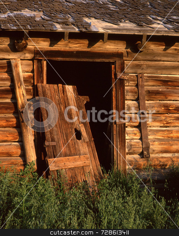 Old Door stock photo, The door to an old barn. by Mike Norton