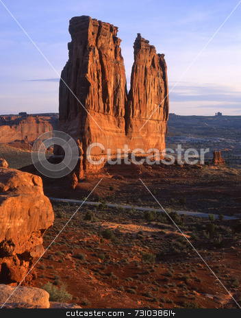 The Organ stock photo, The Organ in Arches National Park, Utah. by Mike Norton