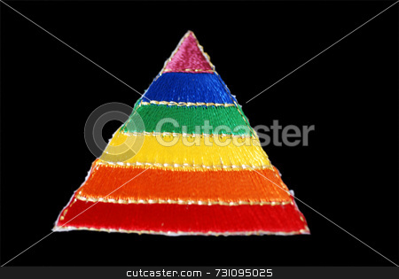 Gay Pride Triangle stock photo, A rainbow triangle symbolic of the gay pride movement by Philippa Willitts