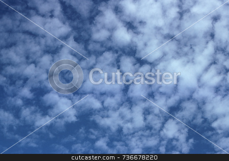 Cumulus Clouds stock photo, Cumulus clouds in an azure blue sky. by Kathy Piper