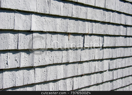 Old Weathered Gray Wood Shingles stock photo,  by Tom and Beth Pulsipher