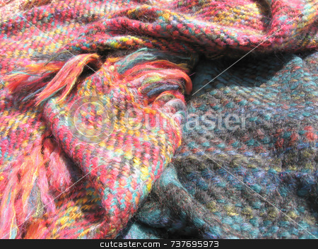 Wool Shawls stock photo,  by Tom and Beth Pulsipher