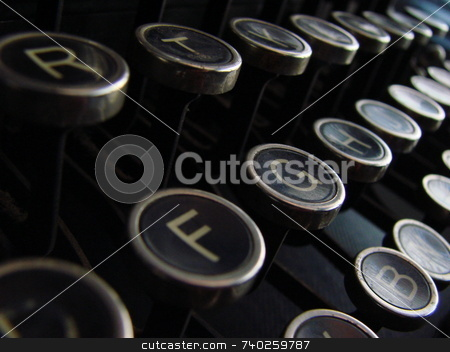 Old typewriter stock photo,  by Dalla torre Gerardo