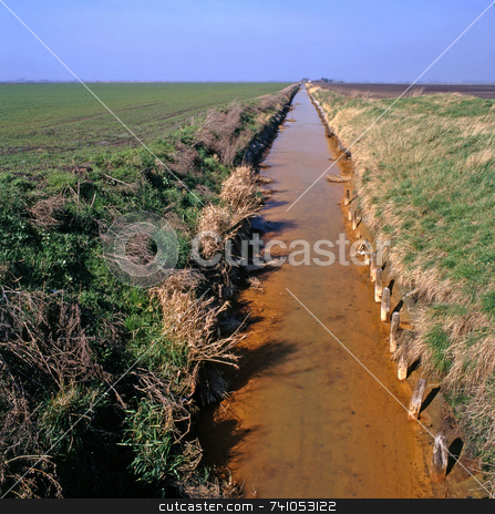 Fens stock photo, Fenland in the east of England near the town of March by Paul Phillips