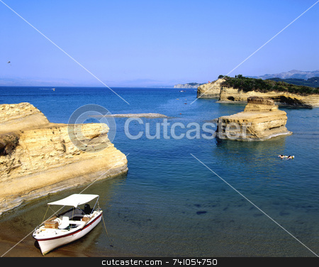 Sidari stock photo, The interesting coastline of Sidari, on the greek island of Corfu by Paul Phillips