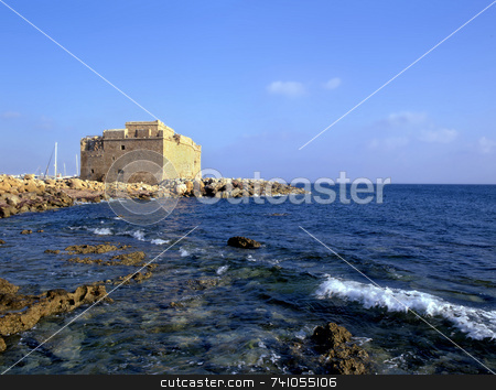 Paphos Fort stock photo, The old fort in Paphos, Cyprus, Europe by Paul Phillips