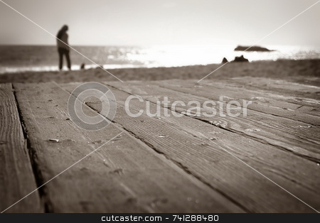 Laguna Beach Walk stock photo, Boardwalk at the beach in Laguna Beach California by Henrik Lehnerer