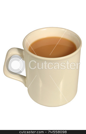 A mug of tea, isolated on a white background stock photo, A mug of tea, isolated on a white background by Stephen Rees