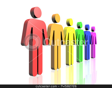 Men side stock photo, Colored man signs by Jean Larue-Frechette