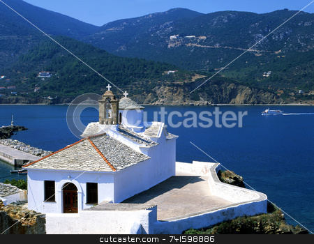 Looking out stock photo, Skopelos by Paul Phillips