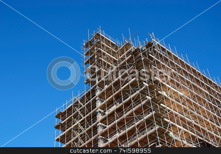 High Rise stock photo, Construction of a new high-rise building in a city center by Paul Phillips