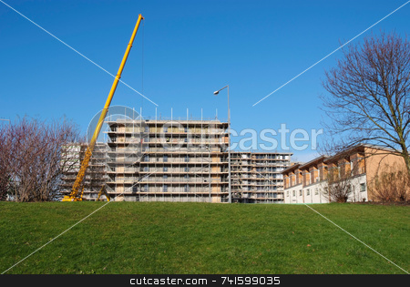 New Building stock photo, Construction of a new high-rise building in a city center by Paul Phillips