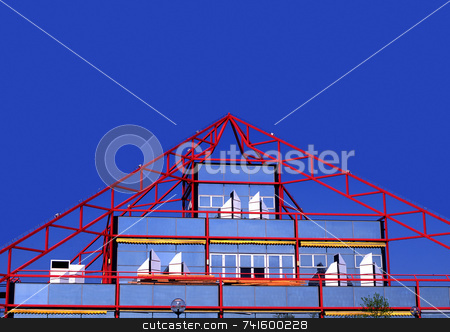 Point stock photo, Modern triangular city building by Paul Phillips