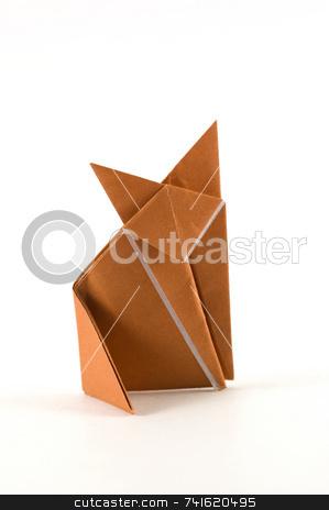 Single fox origami