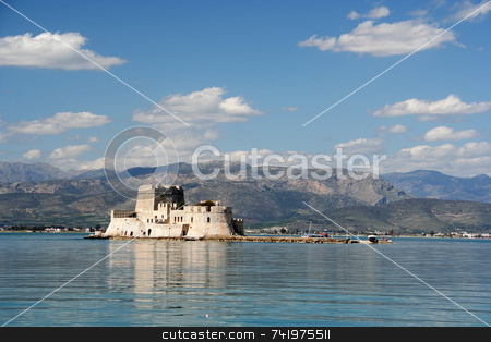 Bourtzi Castle stock photo, The castle island of Bourtzi, in Nafplio (Greece) by Georgios Alexandris