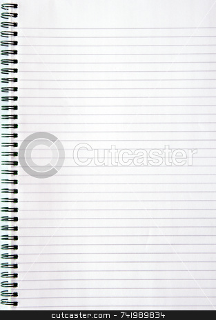 Blank white lined notebook page. stock photo, Blank white lined notebook page. by Stephen Rees