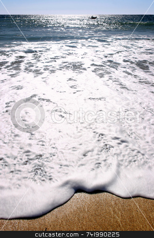 Sun glistening on the sea, Praa Sands, Cornwall. stock photo, Sun glistening on the sea, Praa Sands, Cornwall. by Stephen Rees