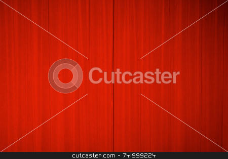Theater curtains stock photo, Bright red theater curtains by Mitch Aunger