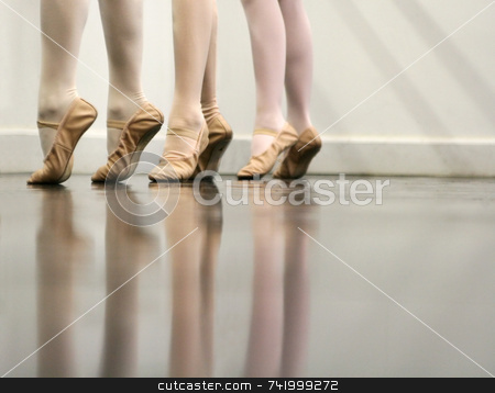 Ballet Dance - the art of stretching stock photo, Ballet Dancer Feet - Soft and elegant by Mitch Aunger