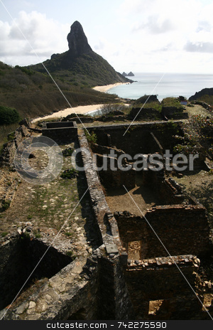 War Fort stock photo, A war fort in Fernando de Noronha - Brazil by Daniel Wiedemann
