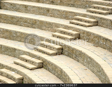 Stairs stock photo, Arena seating area with steps by Jack Schiffer