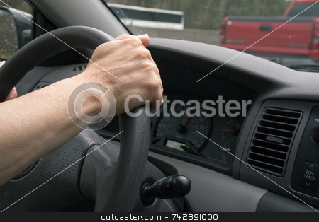 Driving stock photo, Hands in correct position when driving safely by Jack Schiffer
