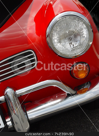 Sports Car stock photo, Close up shot at a car show by Jack Schiffer