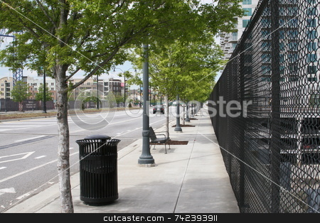 17 TH STREET stock photo, 17 street near atlantic station area being renovated by Jack Schiffer