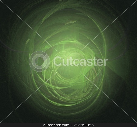 Fractal 18 - Easter Love stock photo, Beautiful flows of green colors build this fractal by Henrik Lehnerer