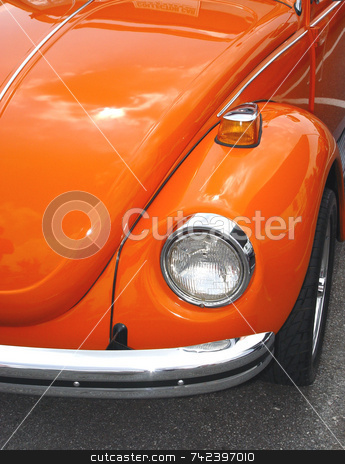 Orange Car stock photo, Classic car by Jack Schiffer