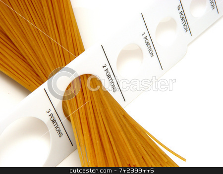 Pasta stock photo, Pasta gauage measuring amout of protion by Jack Schiffer