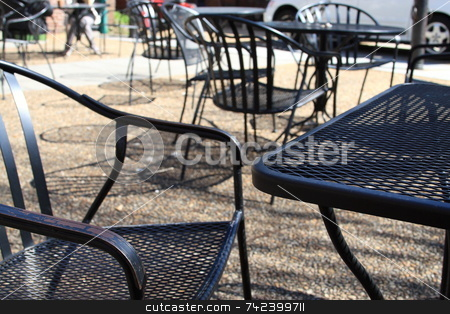 Cafe stock photo, Having coffee at sidewalk cafe in the city by Jack Schiffer