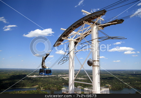 The Ride Up stock photo, The SkyRide up Stone Mountain by Jack Schiffer