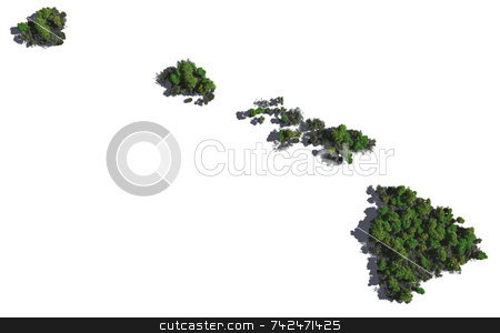 Hawaii in Trees stock photo,  by Allan Tooley