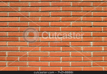 Bricks Wall 6286 stock photo, Red bricks wall with an ordinary pattern as a background by Henrik Lehnerer